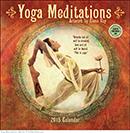 Yoga Meditations 2015 wall calendar